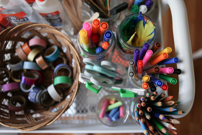 The Art Cart: How we store our art supplies