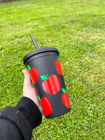 Apple Matte Black Tumbler • Double Wall Insulated
