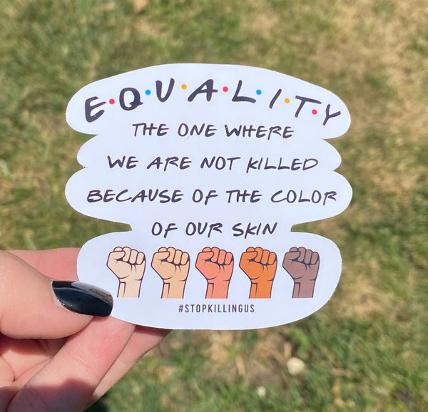 Equality Friends Sticker