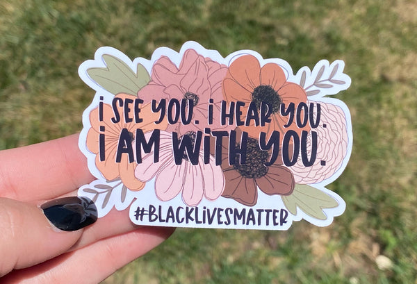 BLM Flower Sticker