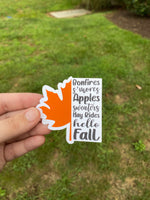 Fall Things Waterproof Sticker