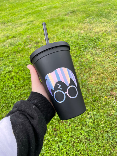 Harry Potter Matte Black Tumbler • Double Wall Insulated