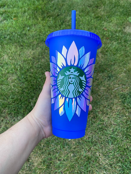 Holographic Sunflower Cold Cup
