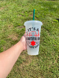 Greys Anatomy Inspired cold Cup