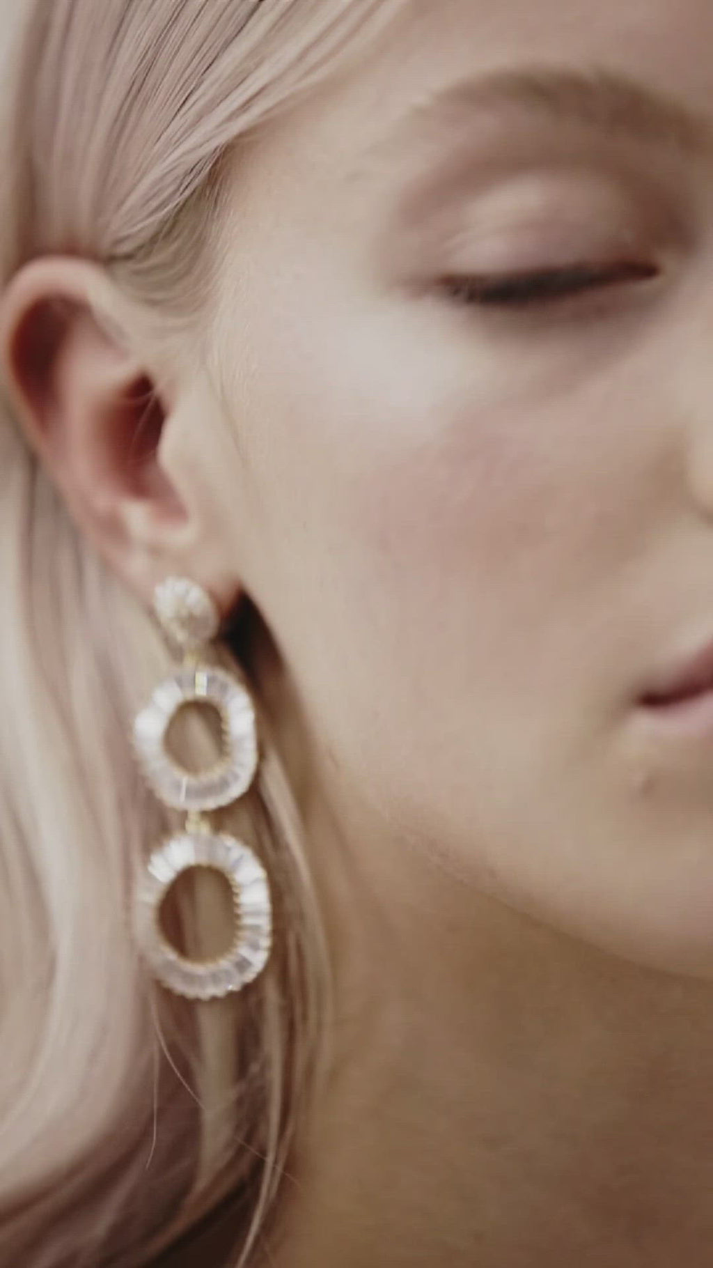 Statement Hoop Wedding Earrings by Amelie George Bridal