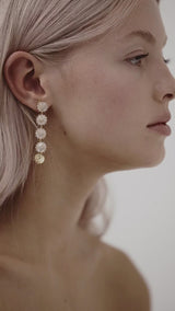 White Gold Bohemian Wedding Earrings Amelie George Bridal Jewellery