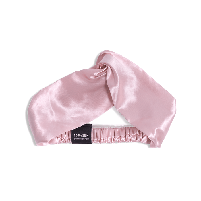BRIDAL ESSENTIALS SILK PACK - BLUSH PINK 100% Mulberry Silk Eyemask, Headband, Scrunchie