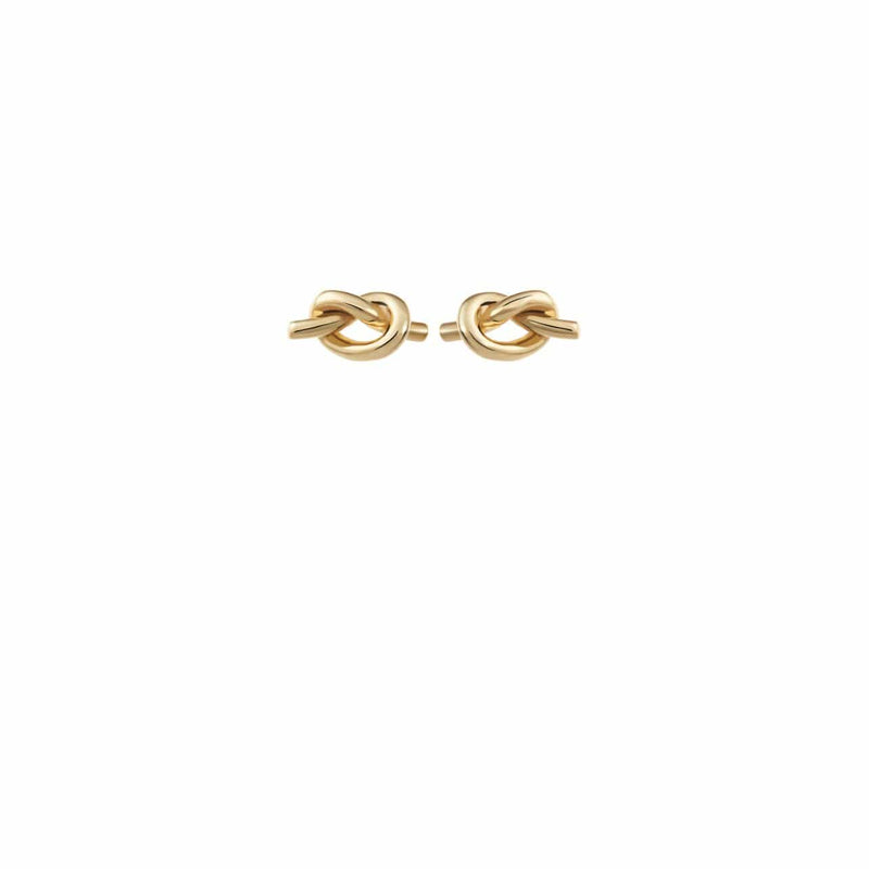 Product image of Amélie George Bridal Infinity knot wedding earrings are a symbol to be worn on and after your special day. Hand twisted in 18k Gold.