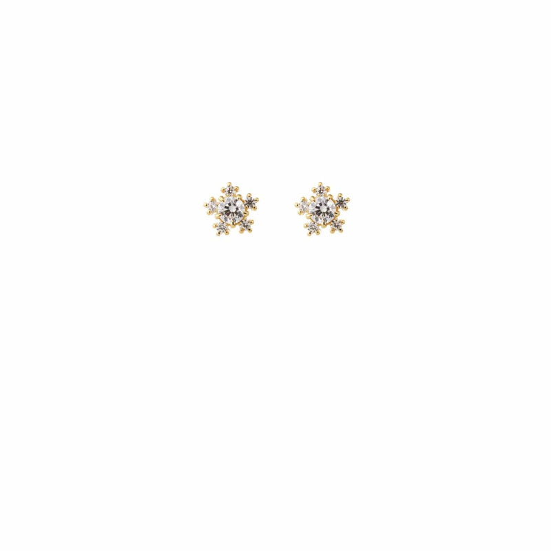 Beautiful Wedding Earrings by Amelie George Bridal Gold Modern Wedding Jewellery