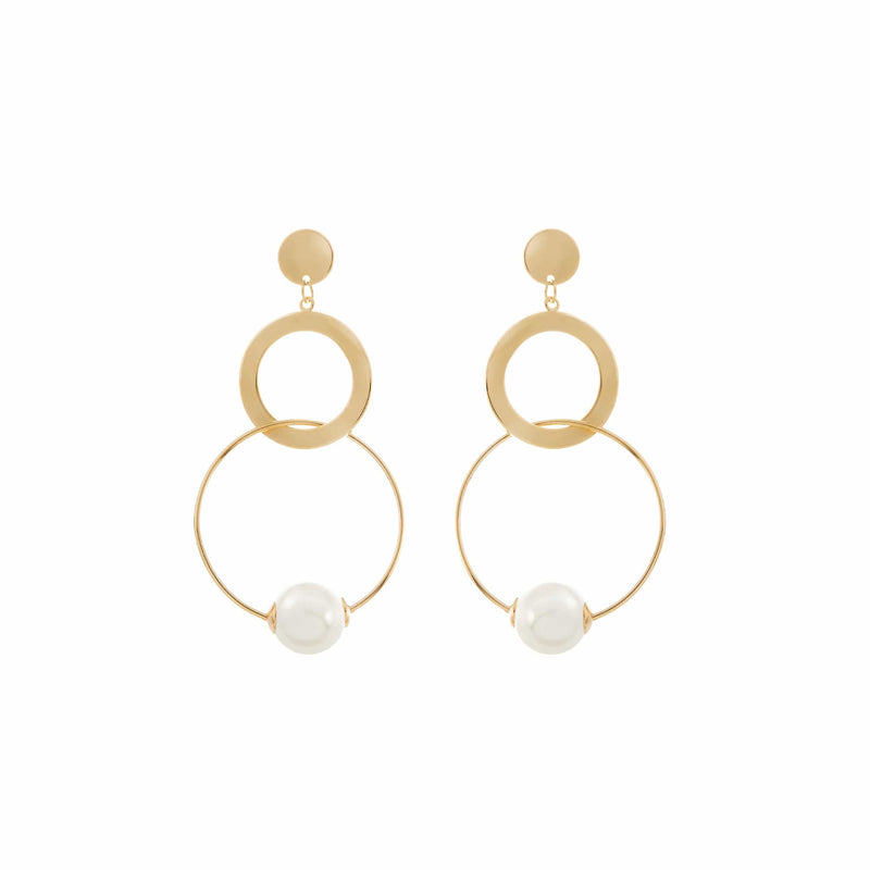 Big Gold Earrings for Wedding, by Amelie George Bridal