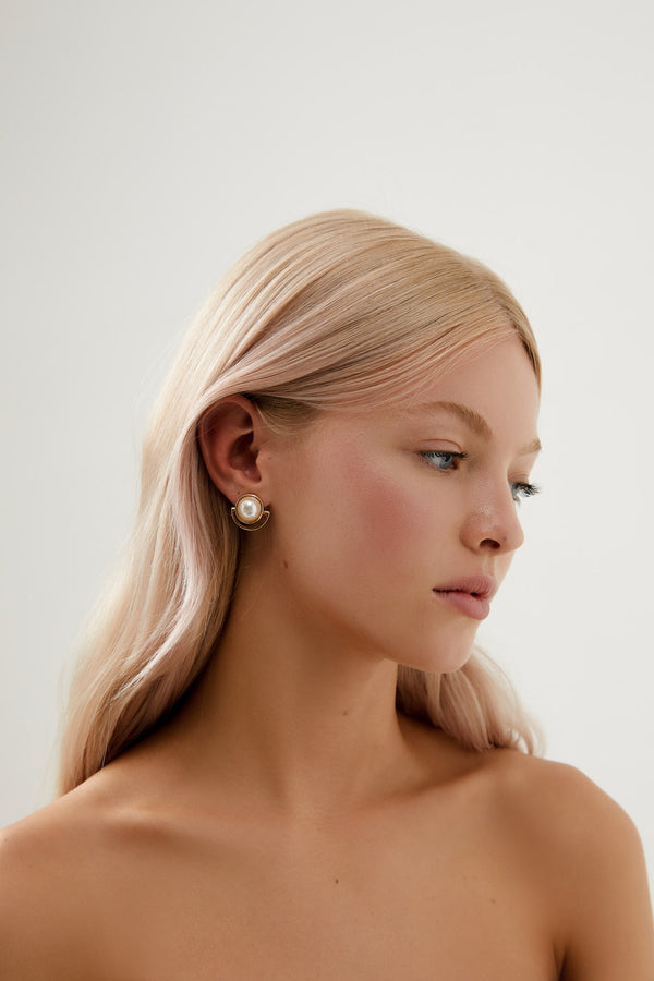 Bridal Earrings Drop Gold Australian Designer Amelie George