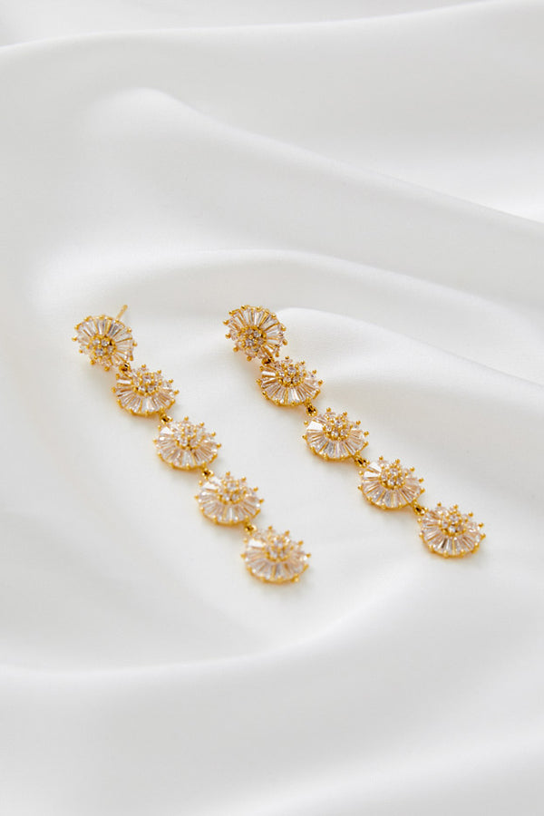 Bridal Earrings online Australia by Amelie George Bridal-Gold
