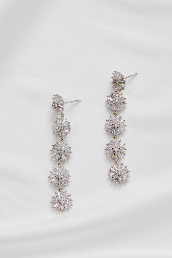 Bridal Earrings online Australia by Amelie George Bridal-Silver