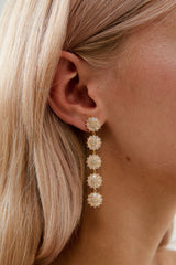 Bridal Floral Earrings by Amelie George Bridal-Gold  Modern Wedding Jewellery