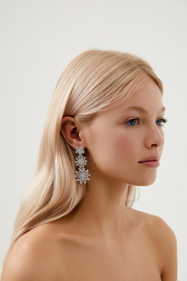Crystal Earrings Wedding by Amelie George Bridal, Silver Modern Wedding Jewellery