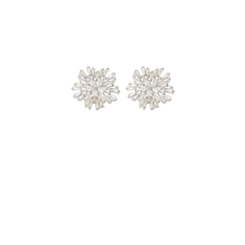 Crystal Earrings Wedding by Amelie George Bridal-Silver Modern Wedding Jewellery