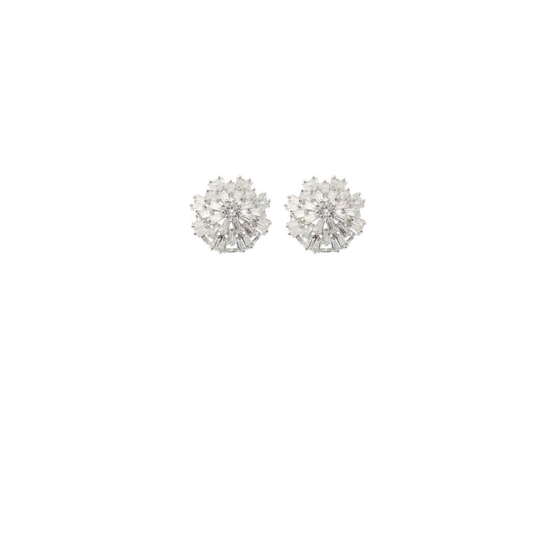 Crystal Wedding Stud Earring by Amelie George Bridal Silver Modern Wedding Jewellery