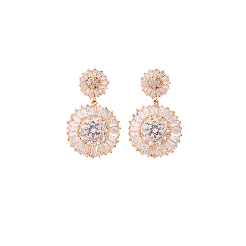 Diamond Drop Earrings Wedding by Amelie George Bridal Rose Gold Modern Wedding Jewellery