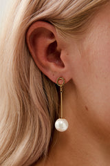Gold Drop Earrings Wedding by Amelie George Bridal Modern Wedding Jewellery