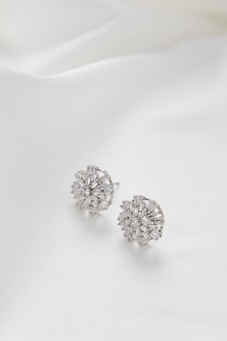 Meghan Earrings Wedding by Amelie George Bridal Silver Modern Wedding Jewellery