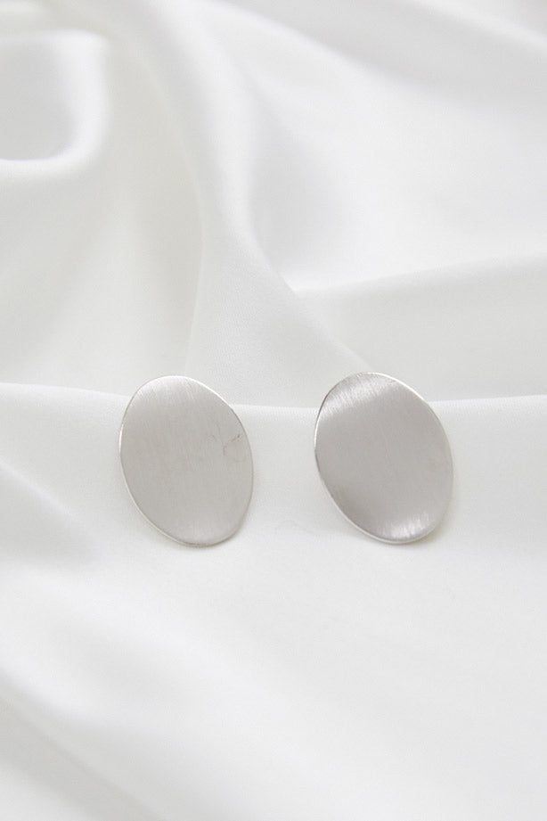 Modern Silver Bridesmaid Earrings by Amelie George Bridal.jpg