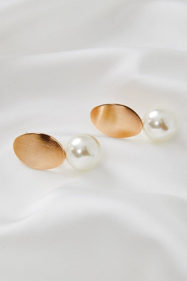 Pearl Dangle Earrings Wedding by Amelie George Bridal Rose Gold Modern Bridal Jewellery