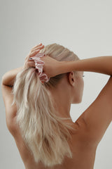 Pink-Silk-Scrunchie-by-Amelie-George-Bridal