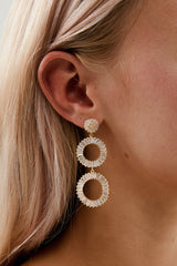 Gold Rhinestone Earrings for Wedding by Amelie George Bridal