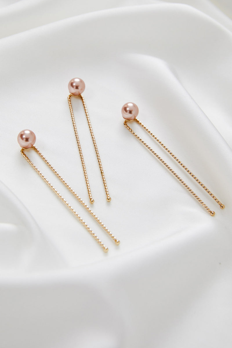 ROSEGOLD HAIR PIN x 3