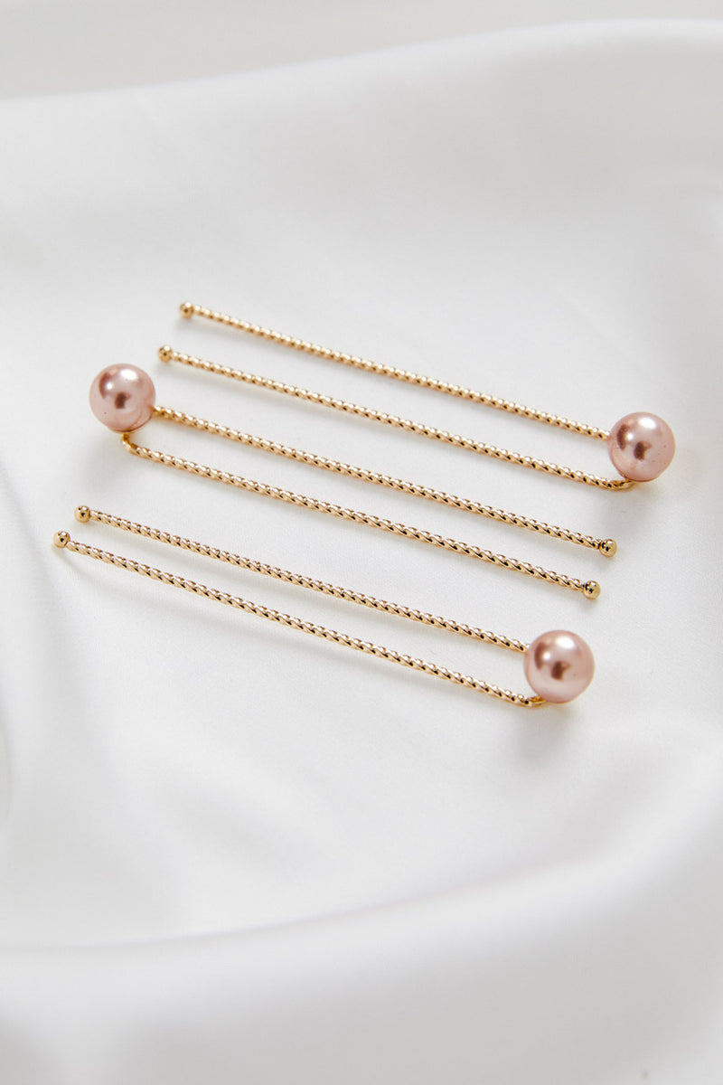 Rose Gold Pearl Hair Pins by Amelie George Bridal