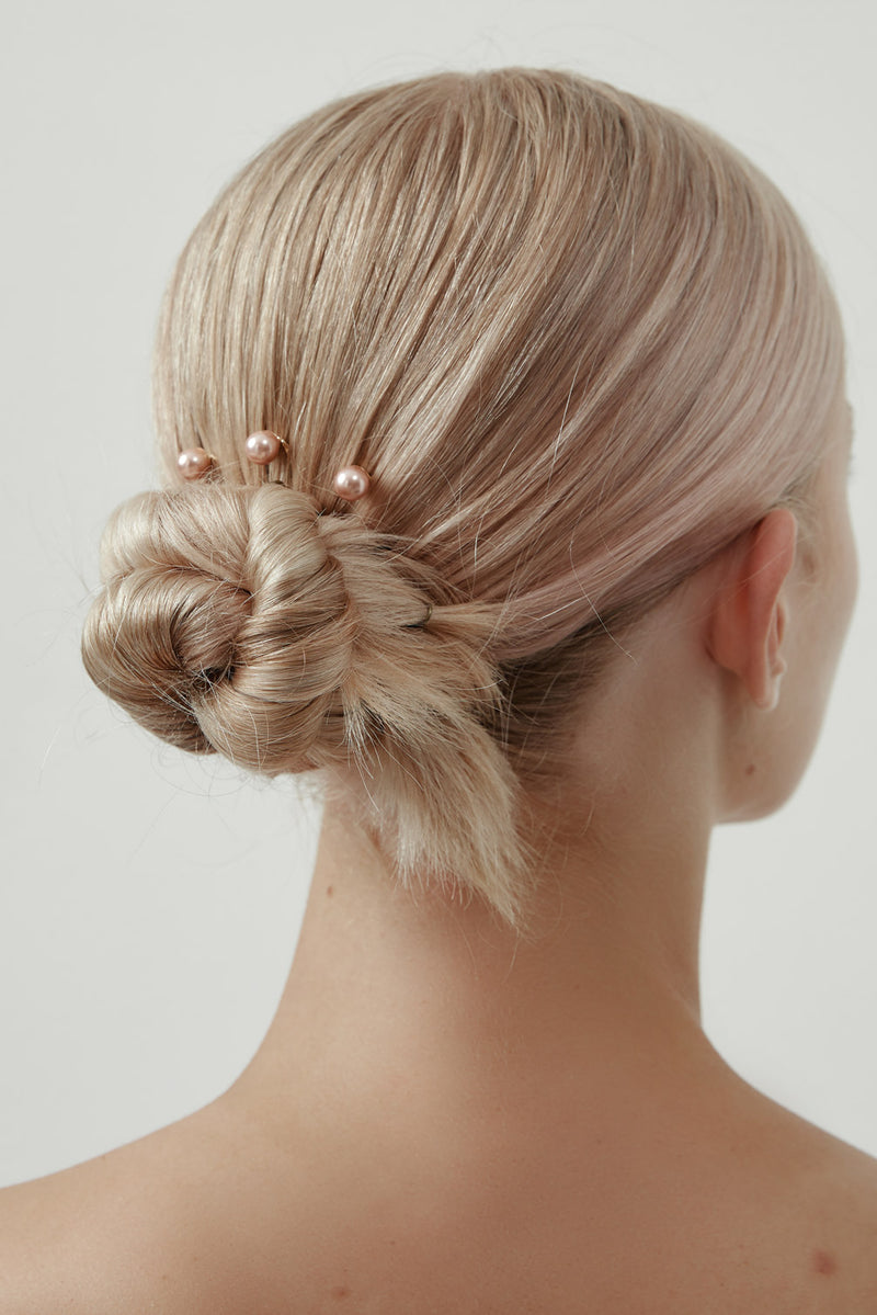 Rose Gold Pearl Hairpins by Amelie George Bridal