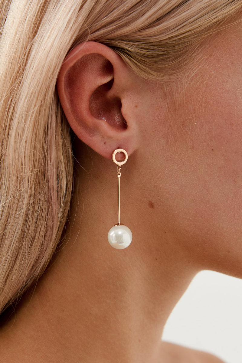 Rose Gold Drop Earrings Wedding by Amelie George Bridal Modern Wedding Jewellery
