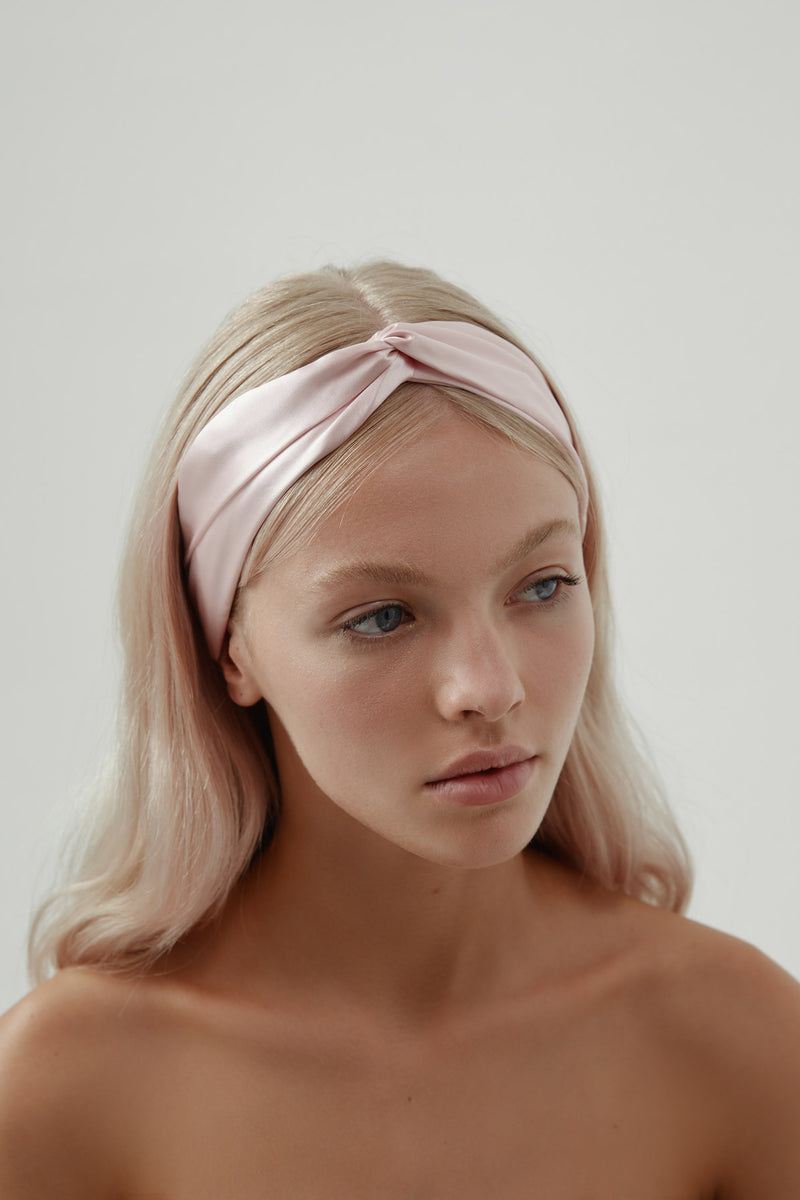 Silk Hair Accessory for Bride in Pink, by Amelie George Bridal