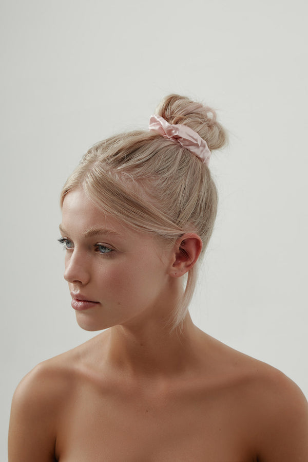 Silk Scrunchie Pink by Amelie George Bridal