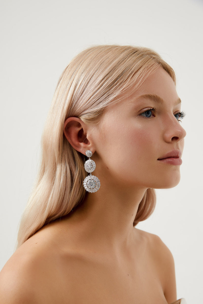 Silver Teardrop Earrings Wedding by Amelie George Bridal