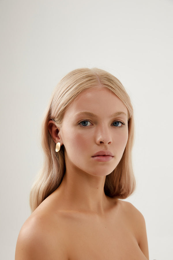 Simple Bridal Earrings Gold Australian Designer Amelie George