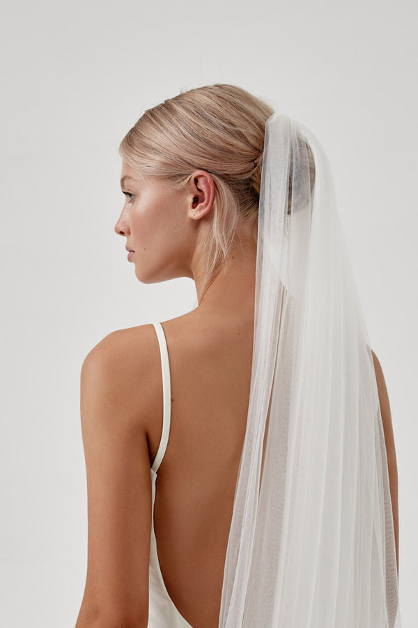 Simple Modern Wedding Veil, by Amelie George Bridal