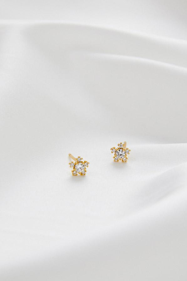 Small Bridal Earrings by Amelie George Bridal Gold ModernWedding Jewellery.jpg