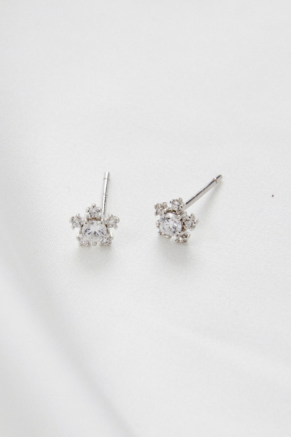 FELICITY - DIAMOND STAR STUD EARRINGS - SILVER