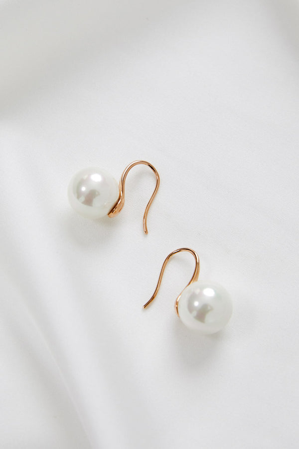 Small Wedding Earrings In Rose Gold By Amelie George Bridal