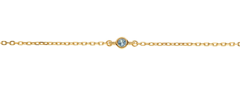 Something New something blue topaz anklet by amelie george bridal gold wedding accessories