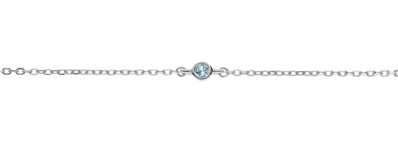 Something New something blue topaz anklet by amelie george bridal silver wedding accessories