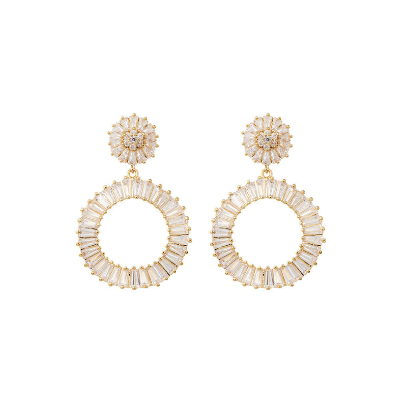 Statement Diamond Earrings Wedding by Amelie George Bridal Gold Modern Wedding Jewellery