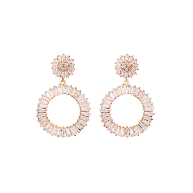 Statement Diamond Earrings Wedding by Amelie George Bridal Rose Gold Modern Wedding Jewellery