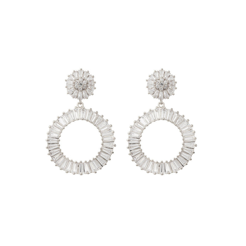 Statement Diamond Earrings Wedding by Amelie George Bridal Silver Modern Wedding Jewellery