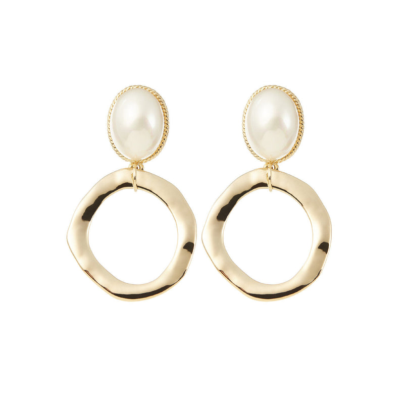 Statement Earrings Wedding in Gold by Amelie George Bridal