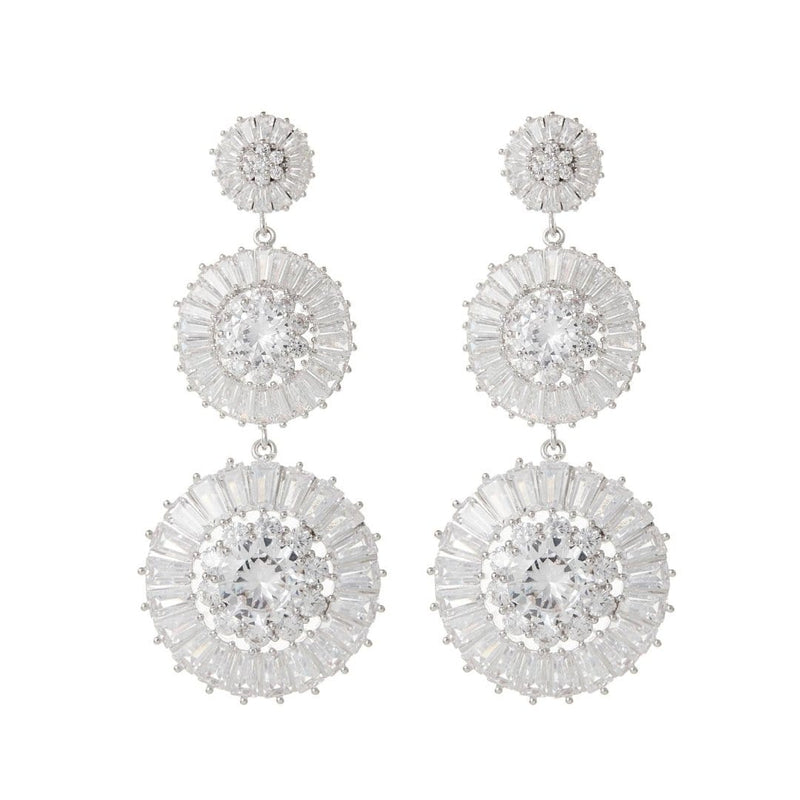 Statement Earrings Wedding by Amelie George Bridal,Silver Modern Jewellery