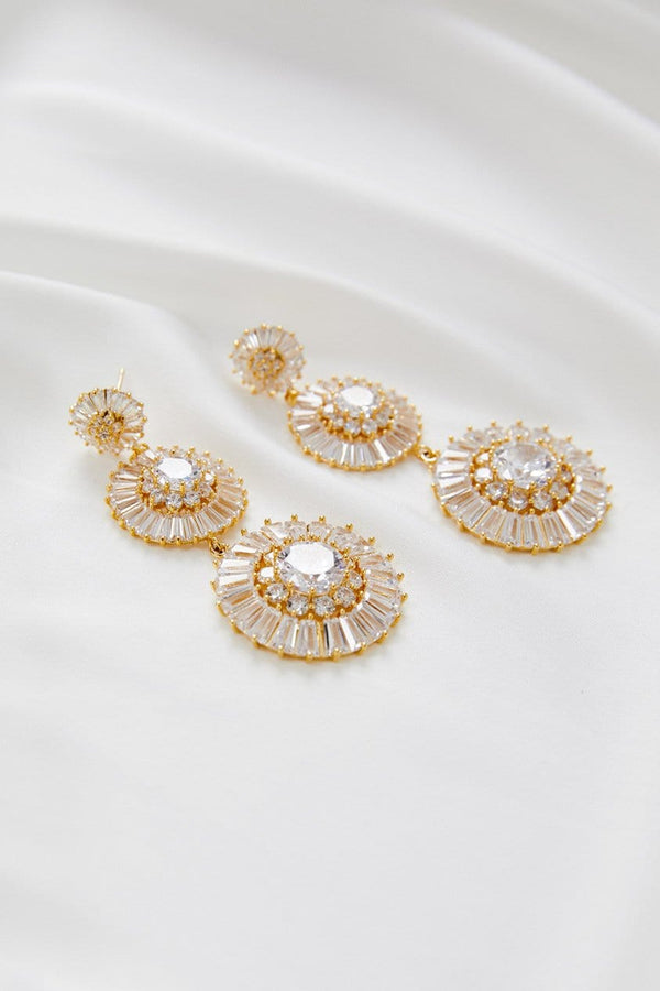 Statement Earrings for Wedding by Amelie George Bridal in Gold