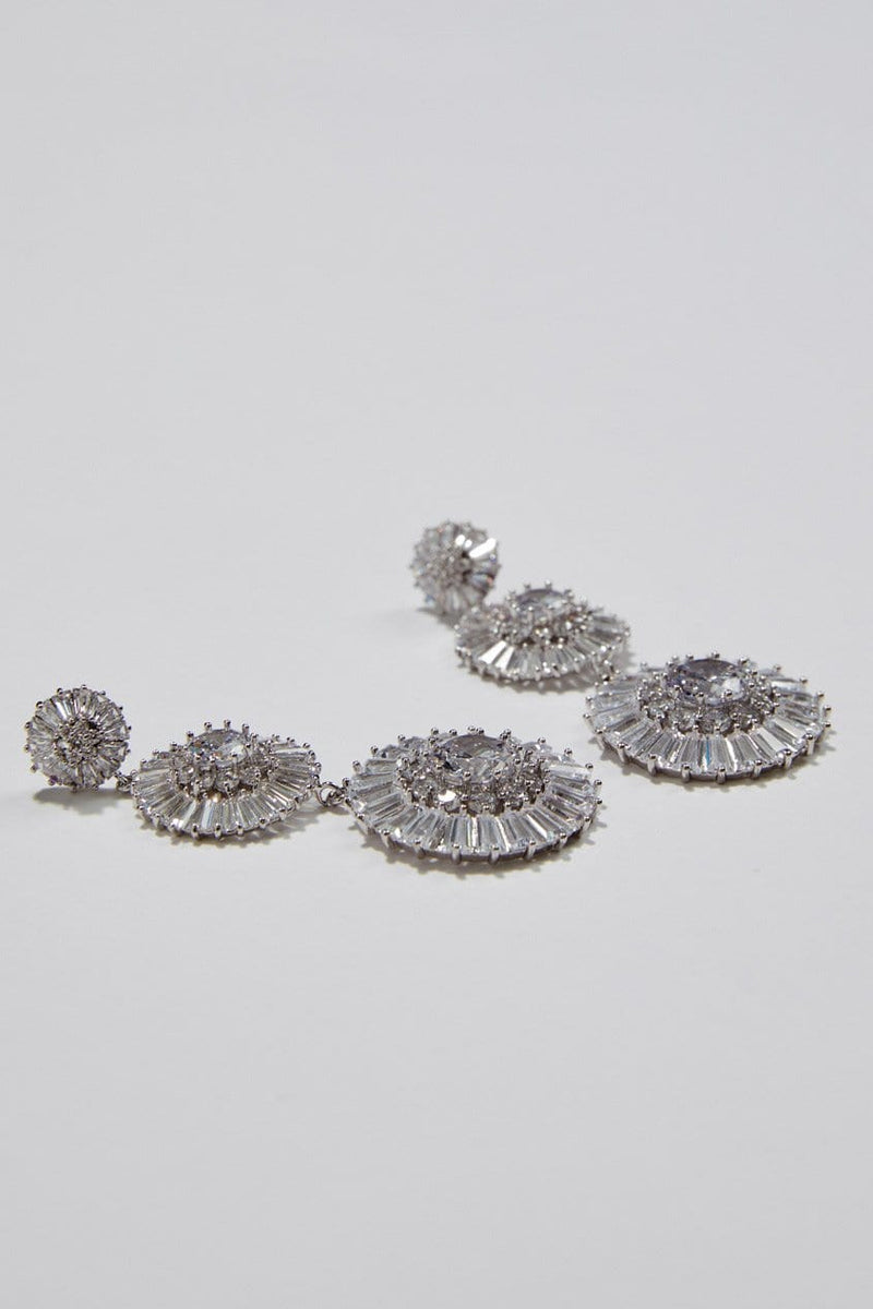Statement Earrings for Wedding by Amelie George Bridal in Silver