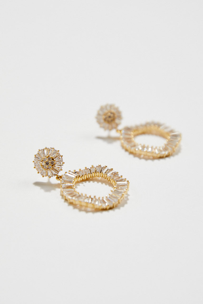 Statement Hoop Crystal Bridal Earrings by Amelie George